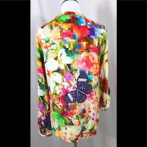 43f9bff144c Desigual Tops | Camila Pixelated Butterfly Blouse | Poshmark